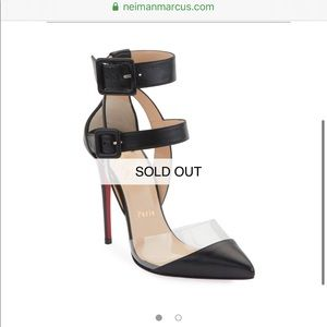 Christian Louboutin Multimiss 100 Leather/PVC Pump